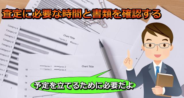査定に必要な時間と書類を確認する